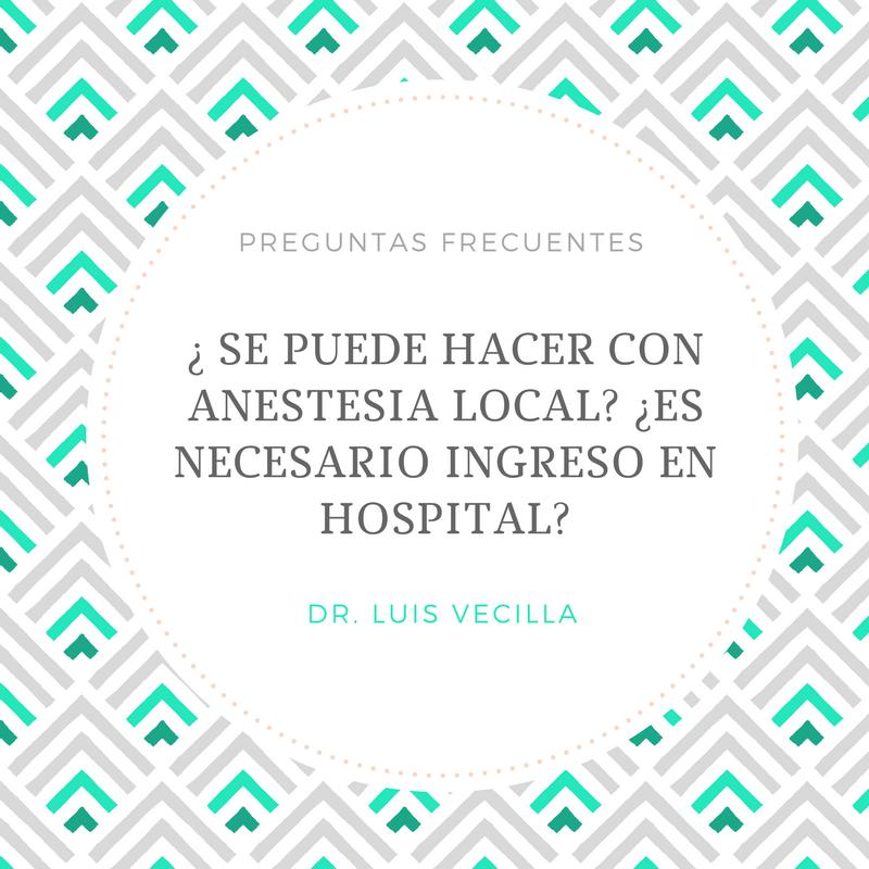 anestesia lipolaser